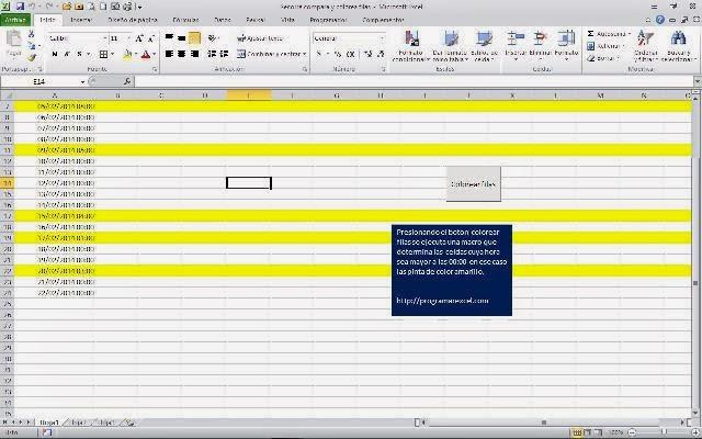 Recorre Compara Y Colorea Filas Programar En Vba Macros De Excel