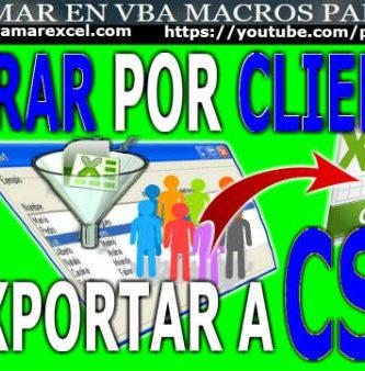 como filtrar por cliente y exportar a csv
