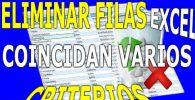 Eliminar Filas en Excel con Varios Criterios