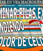 Eliminar Filas Excel en Base Color Celdas