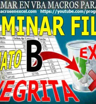 Eliminar Filas Excel con Negritas