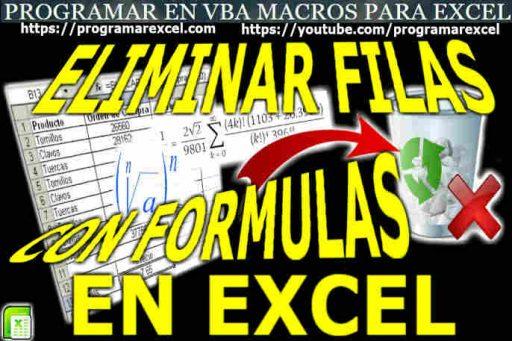 Eliminar Filas en Excel Con Formula