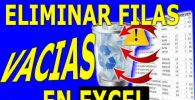 Eliminar Filas Vacias en Excel