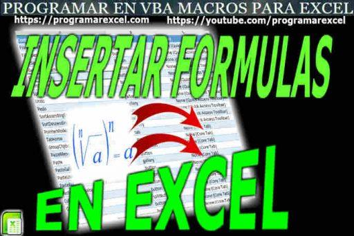 Insertar Formulas en Excel