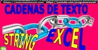 Cadena Texto String Excel VBA