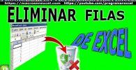 Eliminar Filas de Excel