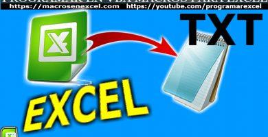 Exportar Importar TXT Excel
