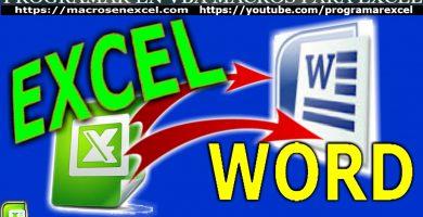 Manejar Word desde Excel