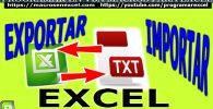 Exportar Importar TXT