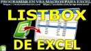 Macros con Listbox Excel