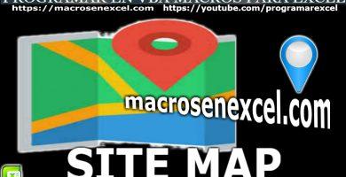 SiteMap Macros en Excel
