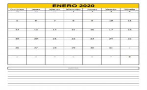 Imprimir calendario 2020