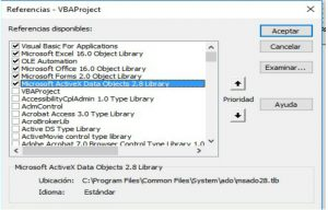 Referencia para utilizar SQL VBA