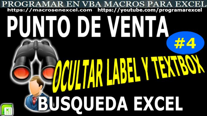 Punto de Venta en Excel Modificar Ocultar Textbox y Label