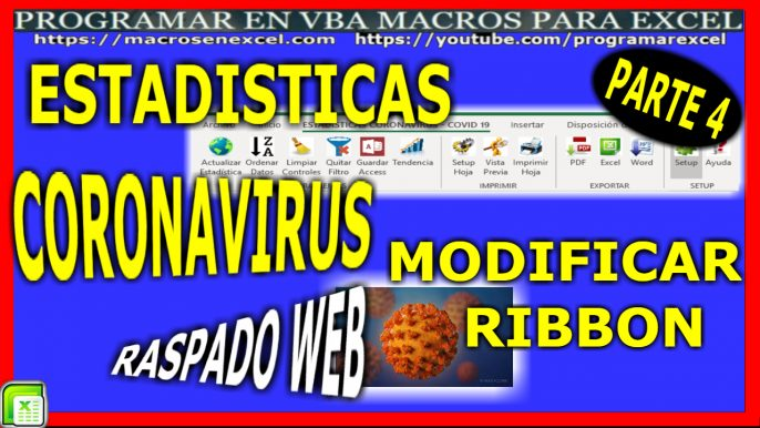 Estadisticas Coronavirus Modificar Ribbon Excel