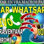 Enviar Whatsapp Masivos con Excel cerrar Chrome