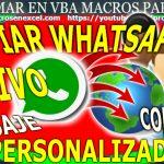 Enviar mensaje masivo personalizado whatsapp