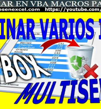 Eliminar Items Listbox Multiselect