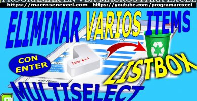 Quitar Filas Listbox Multiselectcon Enter