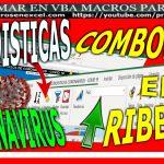 combobox en ribbon estadistica covid 19