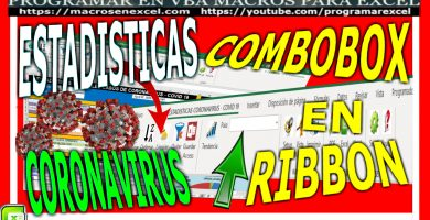 combobox en ribbon estadistica covid 19