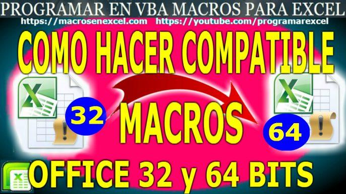 Compatibilidad office 32 y 64 bits
