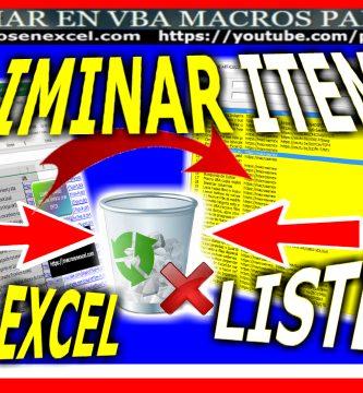 Eliminar Item de Listbox y Hoja de Excel