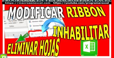 Modificar Ribbon Inhabilitar Eliminar Hojas de Excel