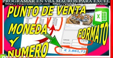 Punto de Venta con Excel - Formato a Listbox Moneda y Numero