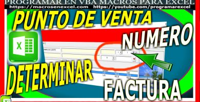 Punto de Venta en Excel - determinar número de factura - autonumerico