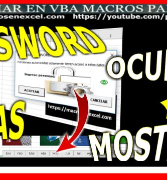 password contraseña para ejecutar macro oculta y muestra hojas excel