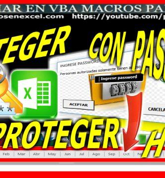 proteger y desproteger hoja de excel con password contraseña clave