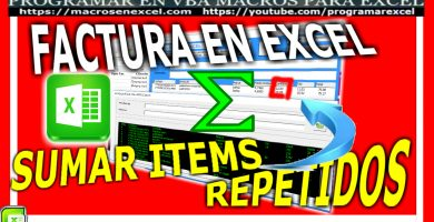 factura en excel- editar item en listbox