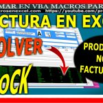 Factura en Excel - Devolver al stock productos no facturados
