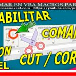 Inhabilitar comando Cortar - CUT - Modificar Ribbon de Excel