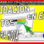 Crear Validacion en Excel con Macro Listas Validacion otra hoja