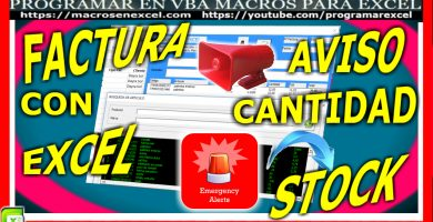 Factura con Excel - Control de stock