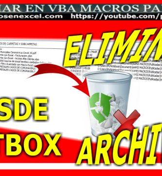 Macro para eliminar quitar suprimir archivos ficheros