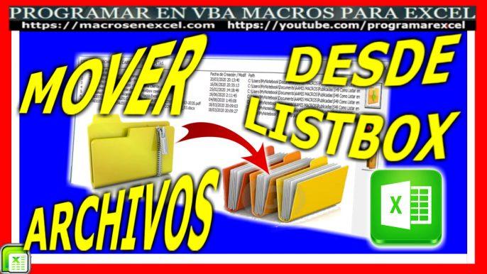 Macro para mover archivos o ficheros de un directorio a otro