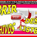 Abrir pdf con macros excel vba