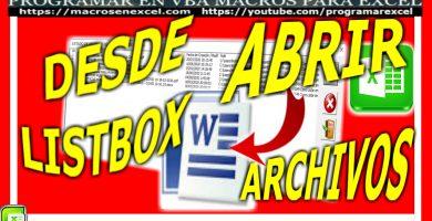 Abrir archivo de word con macros excel vba