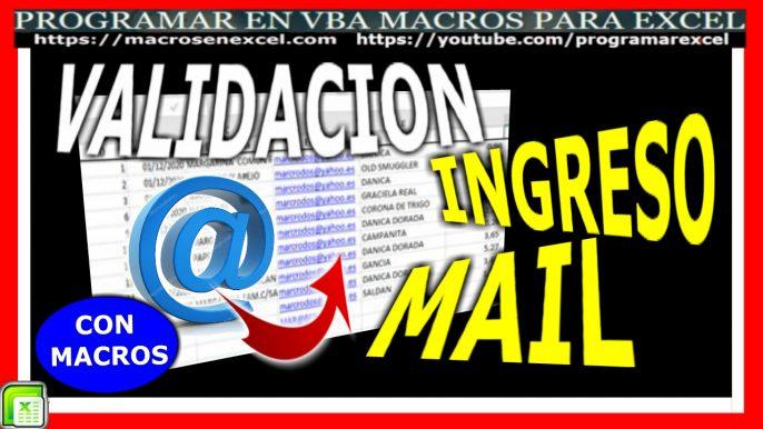 validar ingreso de correo electronico email