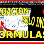 validacion en excel permitir solo ingreso de formulas
