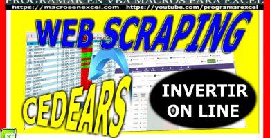 scraping web con excel