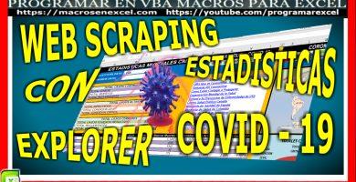 web scraping con Internet Explorer Raspado Web en Excel