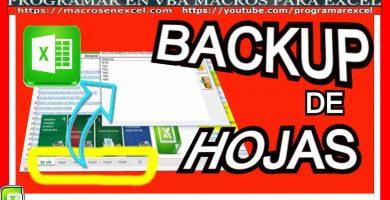 Backup de hojas de Excel