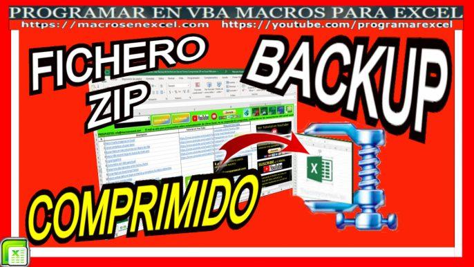 Backup Excel en archivo zip comprimido