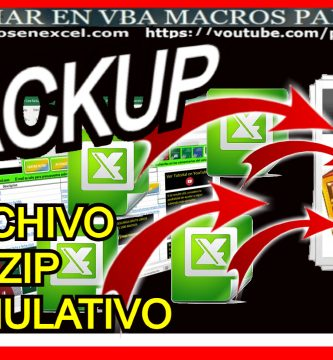 Backup Excel Zip Comprimido Aumulativo