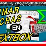 Sumar fechas en textbox en tiempo real