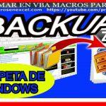 Backup de una Carpeta en forma comprimida o ZIP con Excel